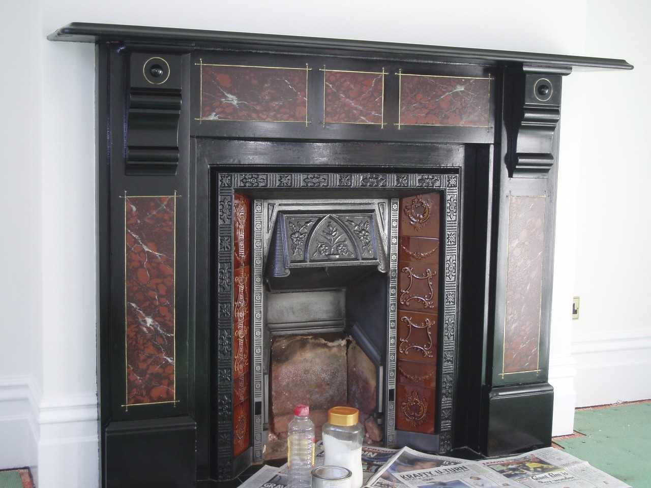 Ioana stoian fireplace restoration Victorian fireplace restoration
