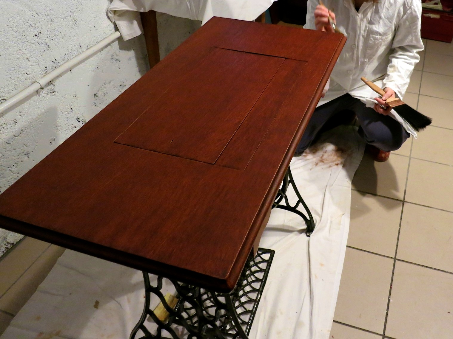 Faux Mahogany stage 2