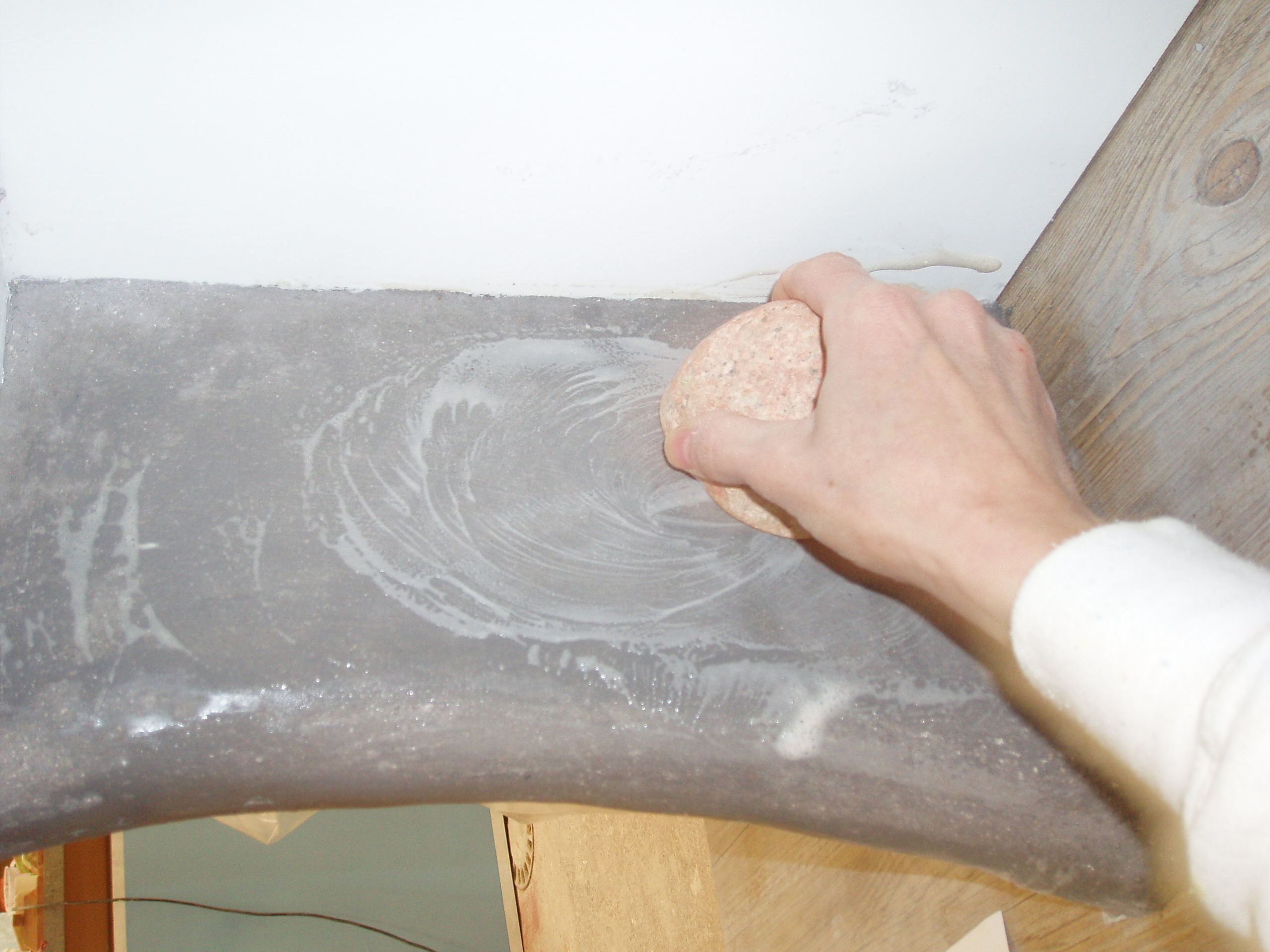 applying soapy solution