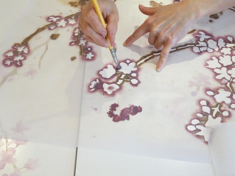 Cherry blossom stencil   IOANA STOIAN