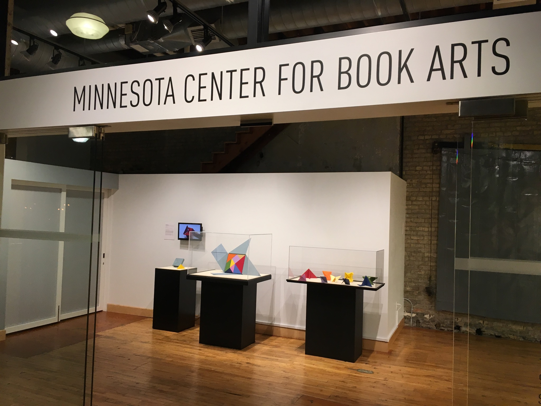 Opening Display at the Minnesota Center for Book Arts.
