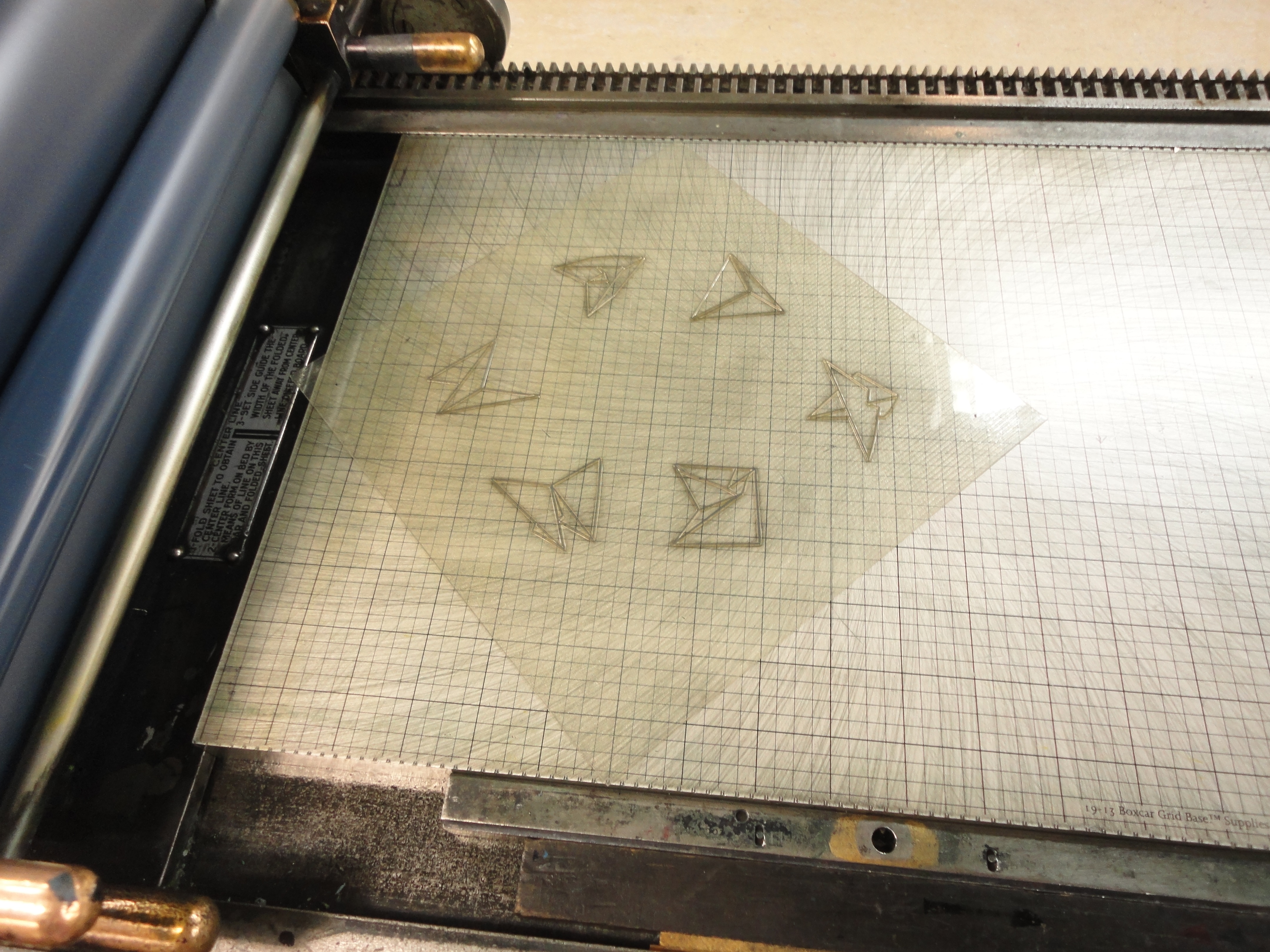 Letterpress printing using polymer plates.